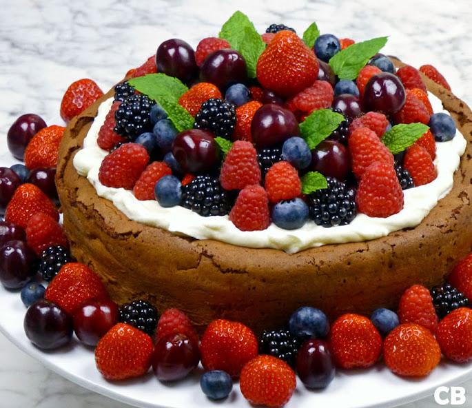 Recept Chocolade-desserttaart met rood fruit