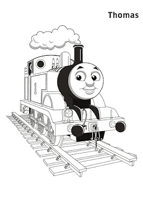 Gambar Mewarnai Thomas and Friends - 8