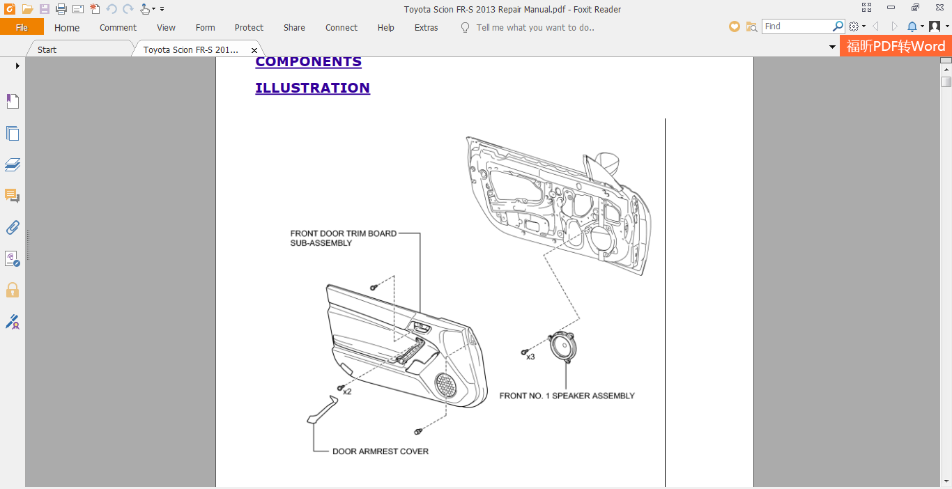 Toyota Scion Fr-s 2013 Repair Manual
