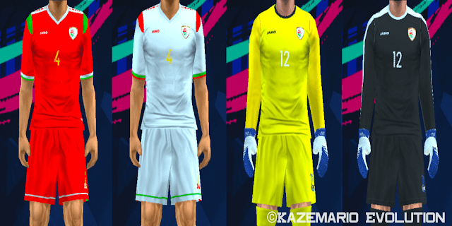 a718e62fe Oman Kits Asian Cup 2019 For PES PSP (PPSSPP) - PES FREE DOWNLOAD
