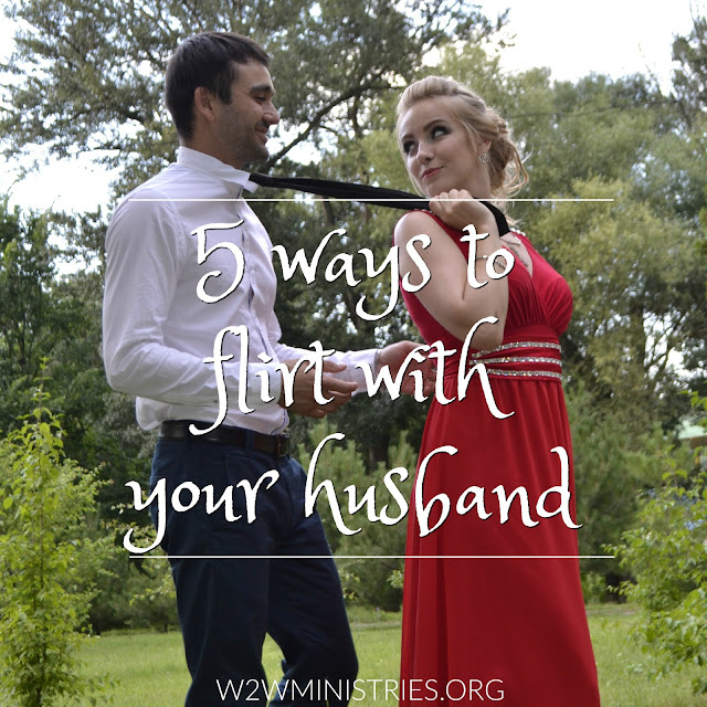 5 ways to flirt with your husband. #marriage #marriagemonday #flirting #husband #wife