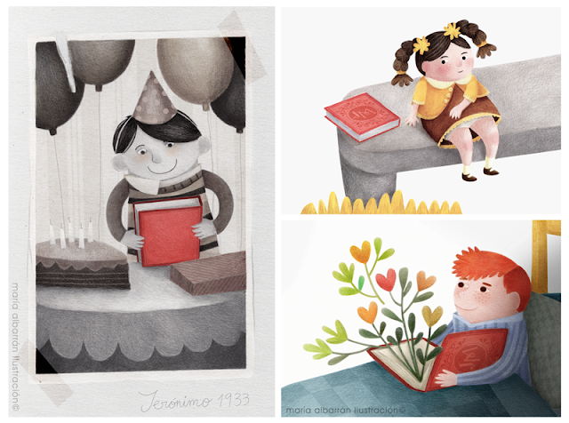 kids and books - Maria Albarran Illustration