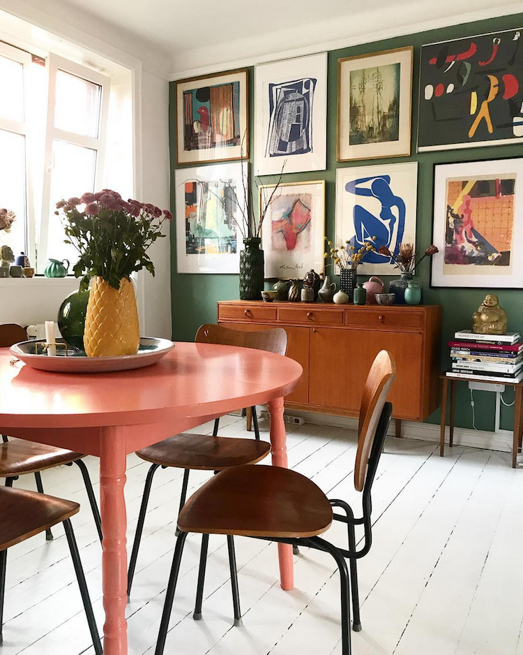 Snapshots from a Colourful Copenhagen Home