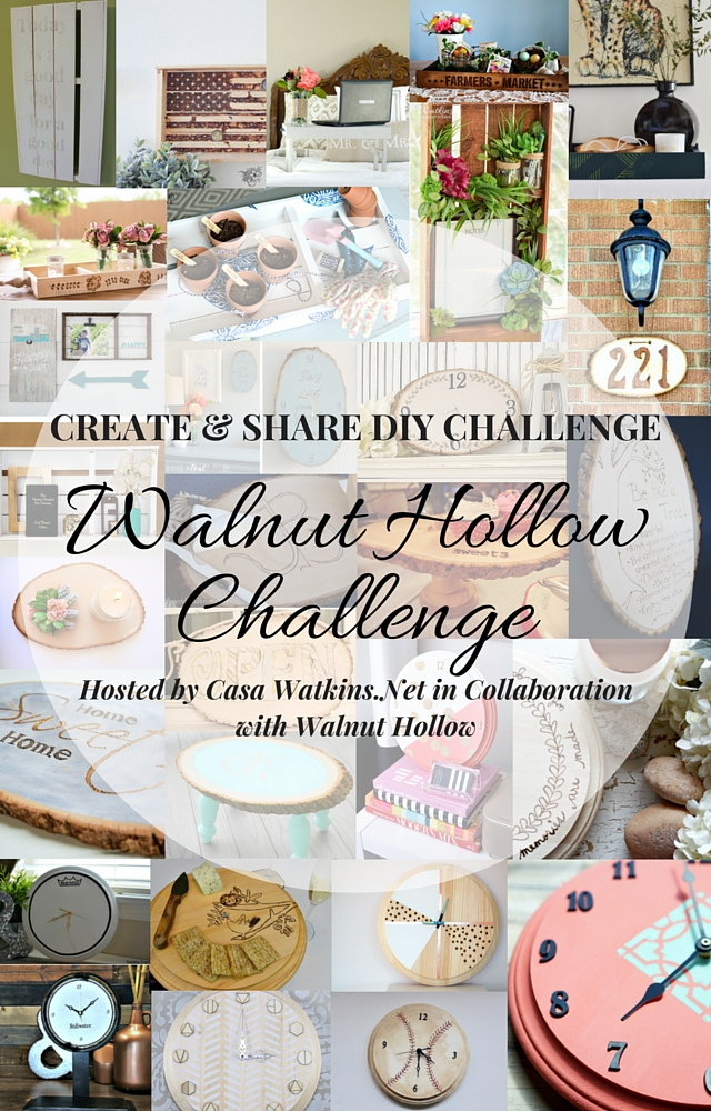 Create & share diy monthly challenge with Walnut Hollow