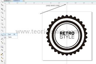 Cara Membuat Logo Retro Vintage Blurred Menggunakan CorelDRAW7