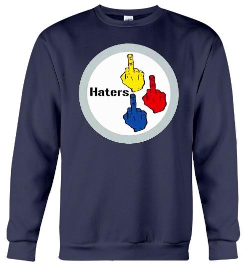 Pittsburgh Steelers Haters The Finger Hoodie Sweatshirt