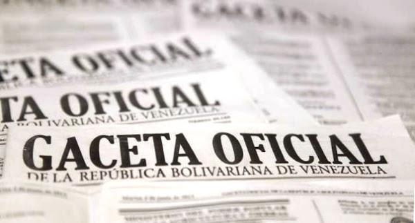 Consulte SUMARIO Gaceta Oficial N° 41.297 de fecha 11 de diciembre de 2017