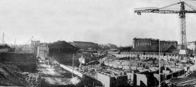1958-1959-е годы. Рига. Строительство нового Рижского центрального ж/д вокзала.