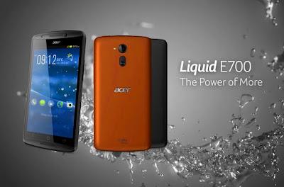 Spek Acer Liquid E700  Tentu sudah jelas bahwa Acer Liquid E700 mengSobat gadgedlkan fitur Triple Sim untuk menarik minat konsumen, namun selain itu Acer juga mengSobat gadgedlkan sektor dapur pacu berkualitas mumpuni. MengSobat gadgedlkan processor Quad Core dengan kecepatan 1.3 Ghz, yang di sandingkan dengan GPU Mali dan Ram berkapasitas 2 GB.  Sebagai smartphone baru, Acer Liqyid E700 juga dilengkapi operating system terbaru Android Kitkat 4.4.2. OS terbaru tentu menjadi acuan bagi sesorang dalam membeli sebuah Smartphone, dan Acer Liquid E700 sudah memenuhi kriteria tersebut. Apalagi ponsel ini juga dilengkapi layar HD bertipe IPS Display berukuran 5 Inch dengan resolusi 720 x 1280 pixels dan kerapatan pixel mencapai -294 ppi.   Layar HD akan memanjakan mata Sobat gadged dalam menikmati beragam konten multimedia, selain itu untuk koneksi internet sudah di lengkapi jaringan HSDPA berkecepatan 21 mbps, dan dilengkapi pula Wifi, Bluetooth V4, dan GPS berteknologi terkini. Kemudian dari segi penyimpanan data, sudah disediakan memory internal berukuran 8 GB dengan slot MicroSD mencapai 32 GB. Lanjut ke sektor kamera, disektor ini sudah disediakan kamera utama dengan lensa 8 Megapixel dan didukung oleh autofocus, LED flash, Geo-tagging, dan kemampuan merekam