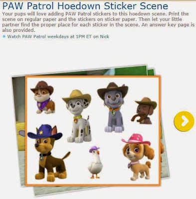Paw Patrol o Patrulla Canina: Escena del Oeste para Stickers, para Imprimir Gratis.