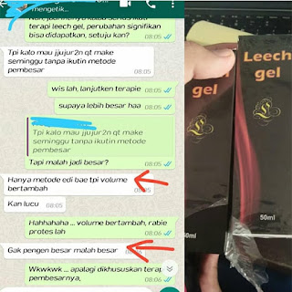 Obat Leech Gel memperbesar panjang penis tanpa obat Permanen