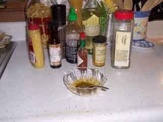 Poulet de Moutarde ingredients