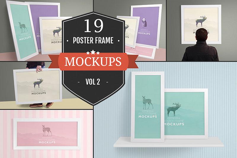 19 Poster Frame Mockups