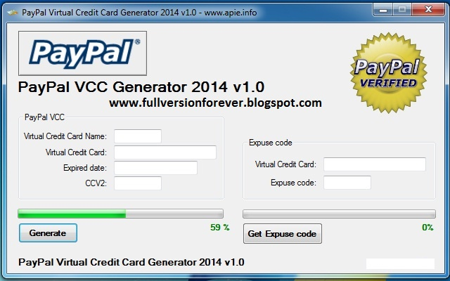 Image Result For Paypal Virtual Card Generator