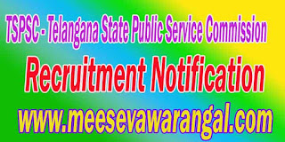 Telangana PSC (Public Service Commission Telangana) Recruitment Notification