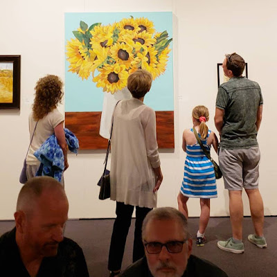 Sunflower painting Showstopper at the Art of the State museum exhibition