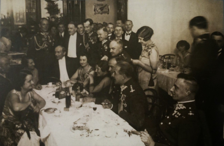 Przyjęcie z udziałem Józefa Becka, druga połowa lat dwudziestych XX w.