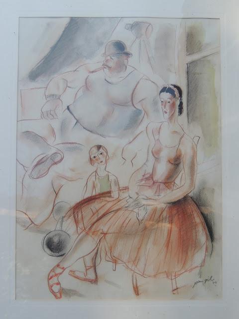 Joan Gil arte moderno dibujo al carboncillo familia artistas