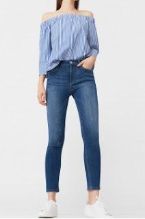 Mango - Jeansi dama simpli ieftini la moda