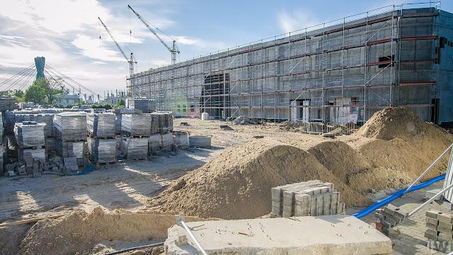 Budowa lodowiska obok hali Łuczniczka