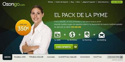 Ofertas de dominios, hosting y soluciones web en Ozongo