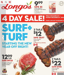 Longos Flyer 4 day sale December 28 - January 3, 2018