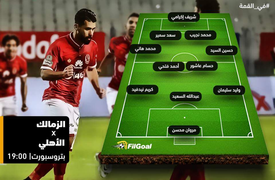تعرف على تشكيل الأهلي والزمالك المتوقع اليوم 29-12-2016 Al Ahly vs Al Zamalek
