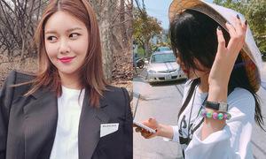 Sao Hàn 28/3: Soo Young kém xinh với tóc mới, Seol Hyun đội nón lá che nắng