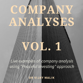 Company analysis using Peaceful Investing Stock Analysis approach, learn equity research analysis, value investing, fundamental investing