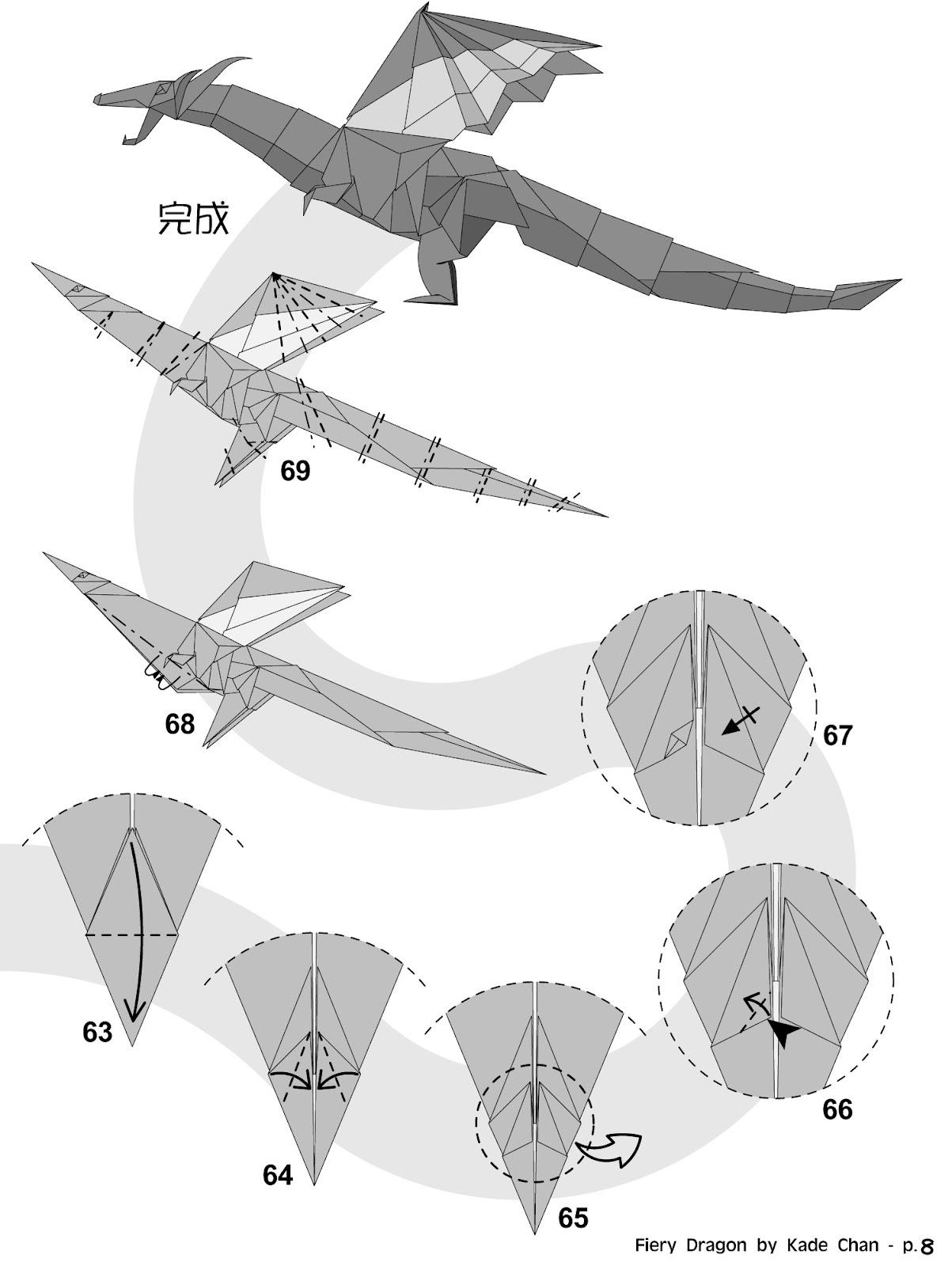 origami angel step by diagram single phase 4 pole motor wiring kade chan blog 香港摺紙工作室 日誌 fiery dragon