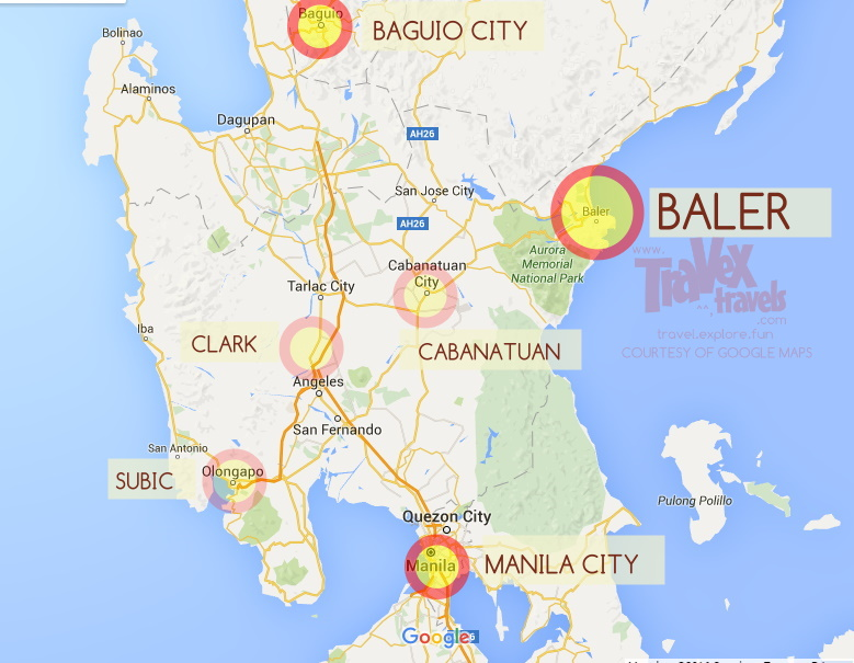 Baler Map Philippines How to Go to Baler, Aurora from Manila, Baguio   Travex Travels