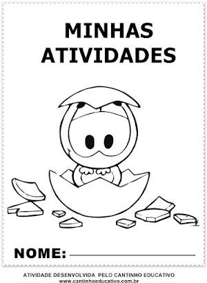 MODELOS  DE CAPAS PARA TRABALHINHOS E PASTAS DE ATIVIDADES - TURMA DA MÔNICA