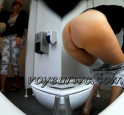 Toilet voyeur loves watching such women peeing (Germany Public Toilet 01)