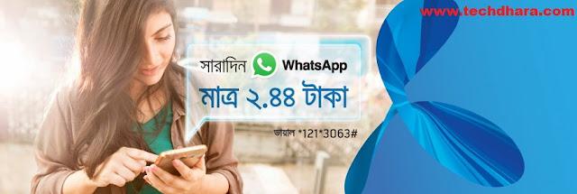 Grameenphone Whatsapp 20 MB pack at Tk. 2.44