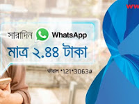 Grameenphone Whatsapp 20 MB pack at Tk. 2.44