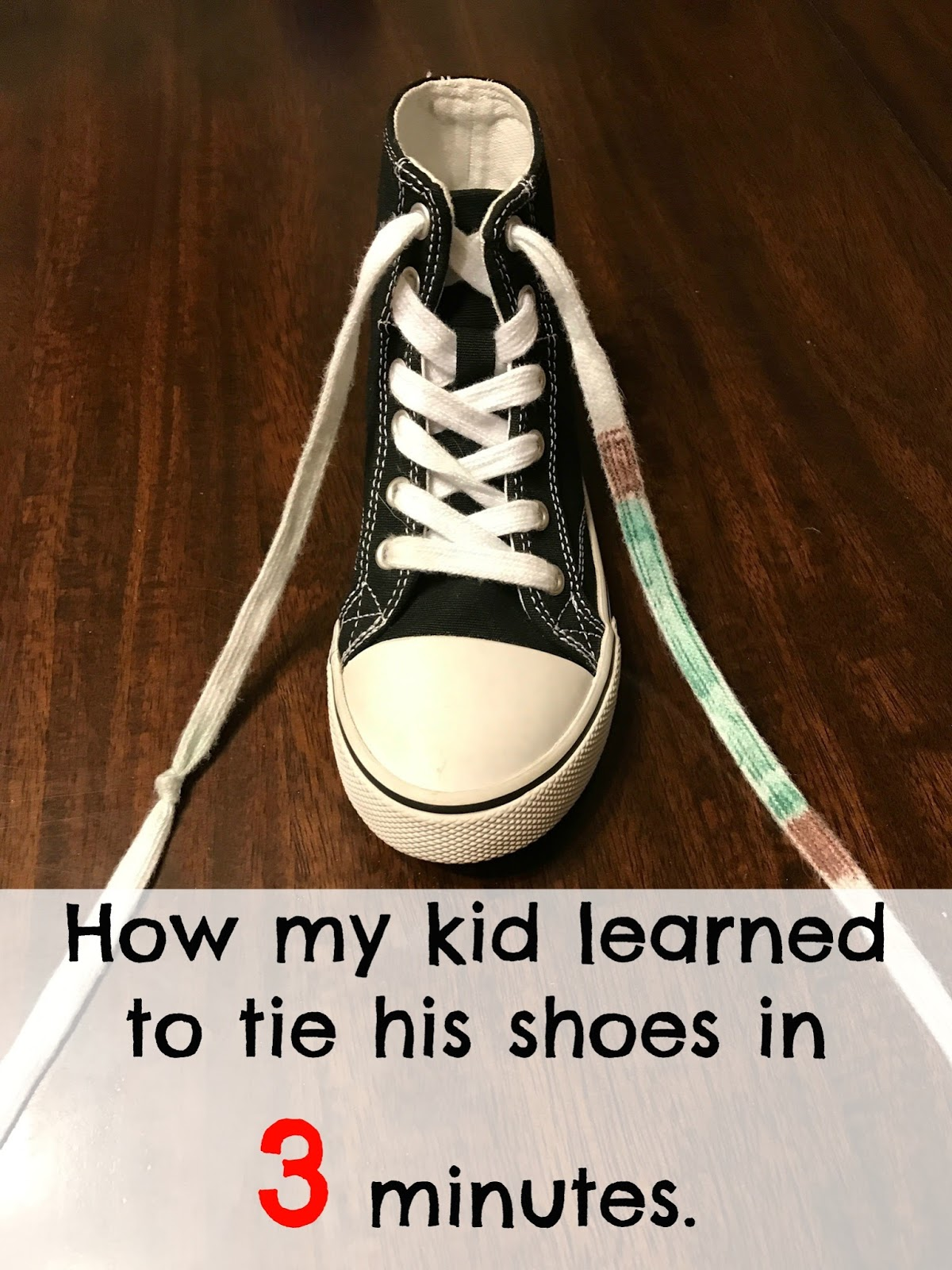How Do You Teach A Kid To Tie Their Shoes