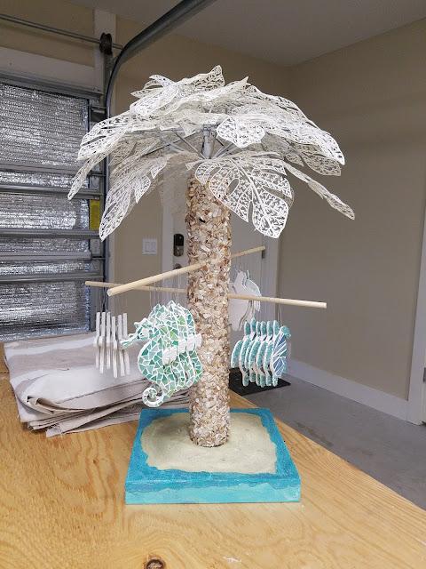 diy palm tree display prop, craft show, art show