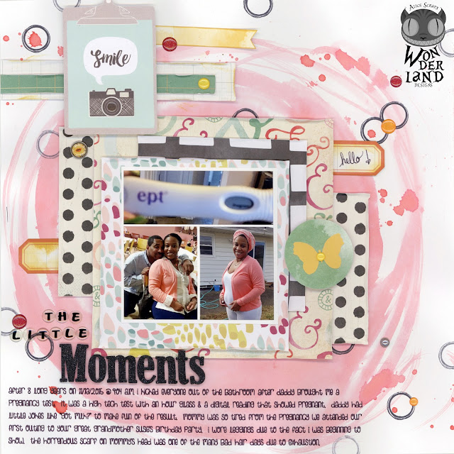 The Little Moments | A Maternity Scrapbook Layout by Alice Scraps Wonderland