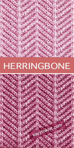 How To #Knit the Herringbone Knit Purl Stitch. Clear instructions.