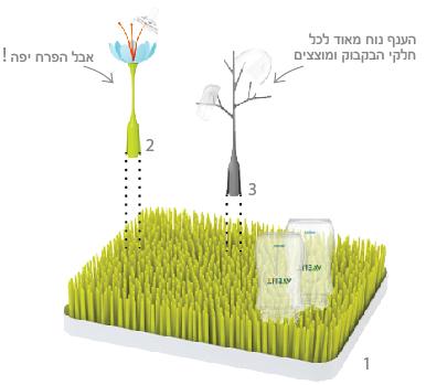 מתקן ייבוש בקבוקים דשא