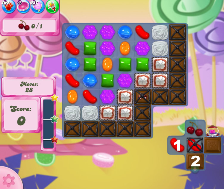 Candy Crush Saga level 2614