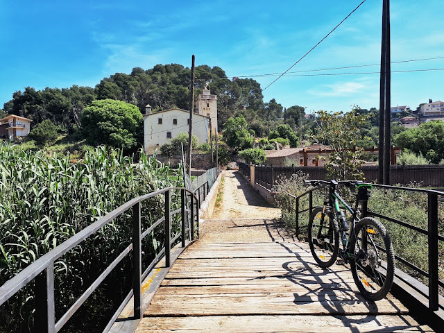 mountainbiking trail mountnegre in Malgrat de Mar Catalonia