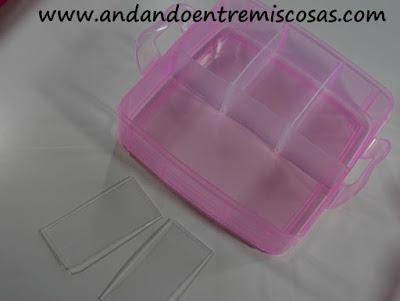 Organizador apilable en color rosa