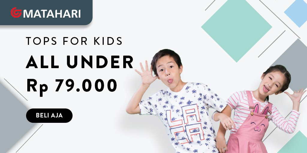 MatahariMall - Promo Tops For Kids All Under 79 Ribu