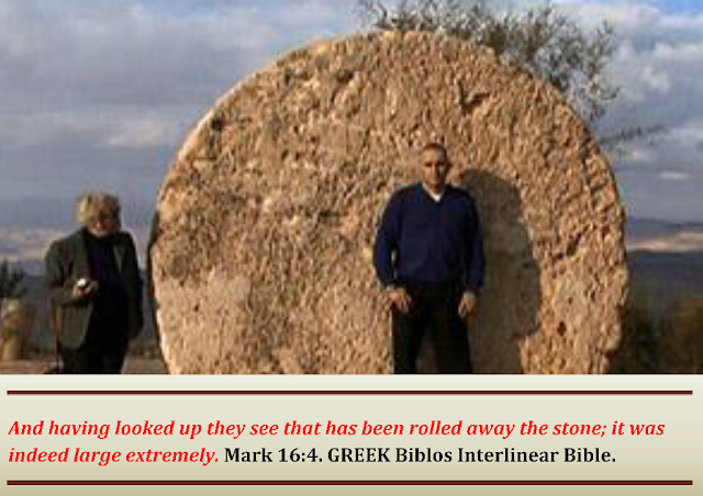 DISCOVERED: And when they looked, they saw that the stone was rolled away: for it was very great. Mark 16:4.