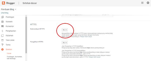 Cara Menggunakan HTTPS untuk situs Blog