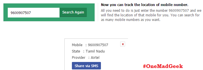 how to find the call details of a mobile number