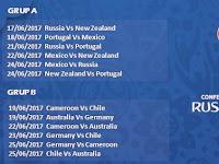 Jadwal Lengkap Pertandingan Piala Konfederasi FIFA 2017 Di RTV
