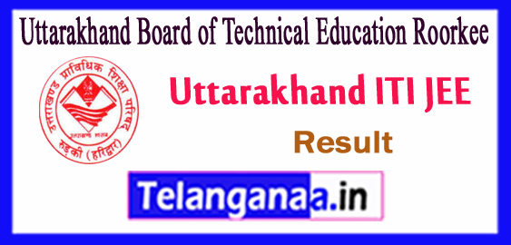 UBTER Uttarakhand Board of Technical Education Roorkee ITI JEE Result 2018-19 Counselling Time Table