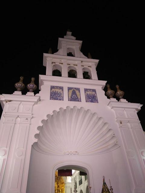 La Ermita del Rocío de noche